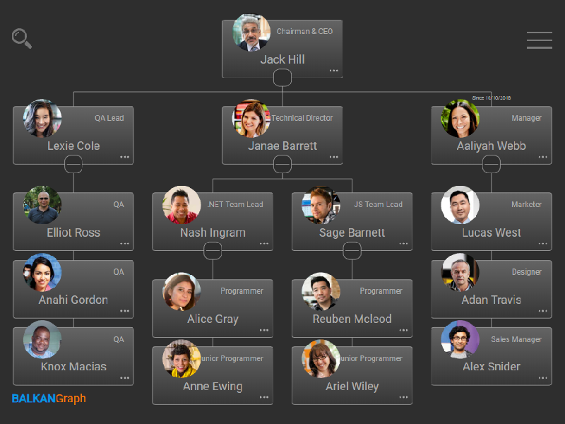 A JavaScript library for building interactive OrgChart for you HR software